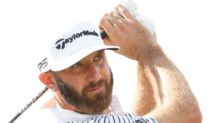 Dustin Johnson could lose his world No 1 ranking to Jon Rahm this week