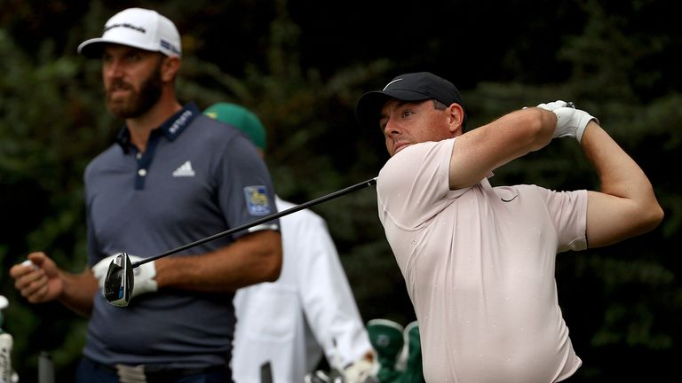 Dustin Johnson and Rory McIlroy will start their rounds two-and-a-half hours later than planned