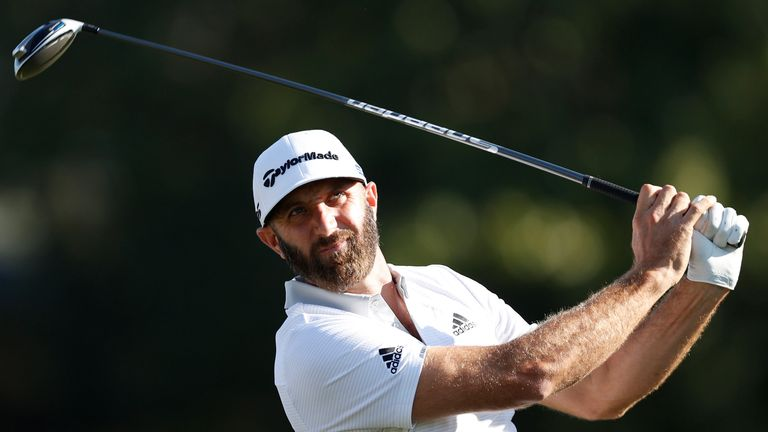Dustin Johnson is warming up nicely for The Masters next week after two solid rounds in Houston