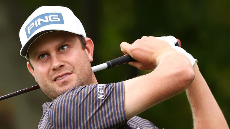 Harris English mixed seven birdies with a lone bogey during his second round