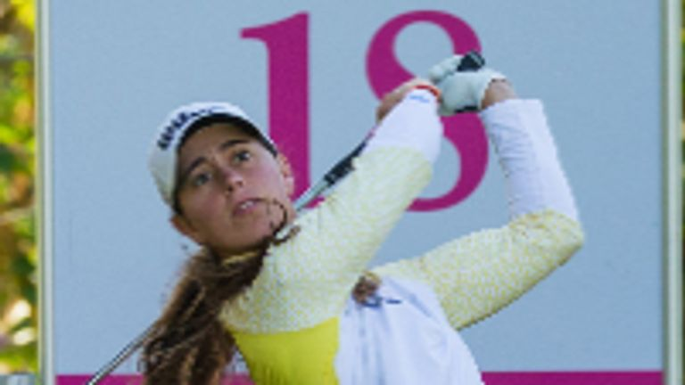 Nuria Iturrioz has carded rounds of 66, 70 and 72 over the first three days