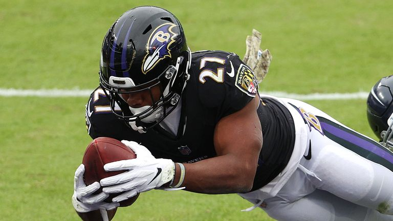 Ravens rookie running back J.K. Dobbins will also miss Sunday's scheduled game against the Steelers