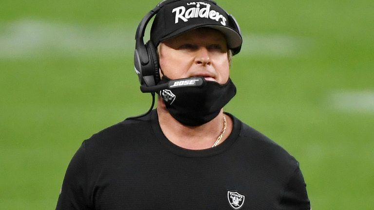 Jon Gruden's Raiders are firmly in the AFC playoff hunt at 6-3 on the season