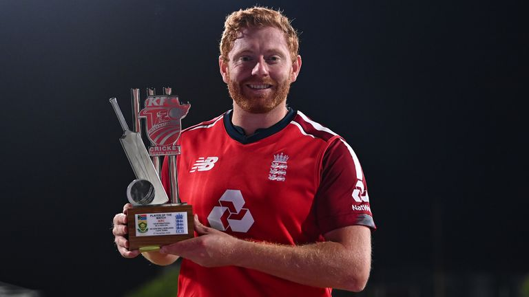 England's Jonny Bairstow was named Player of the Match after his innings secured a five-wicket win over South Africa in the first T20I at Cape Town