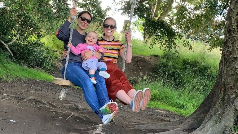 Kristen and her wife Kirsty celebrated the birth of their daughter Robyn in May 2019