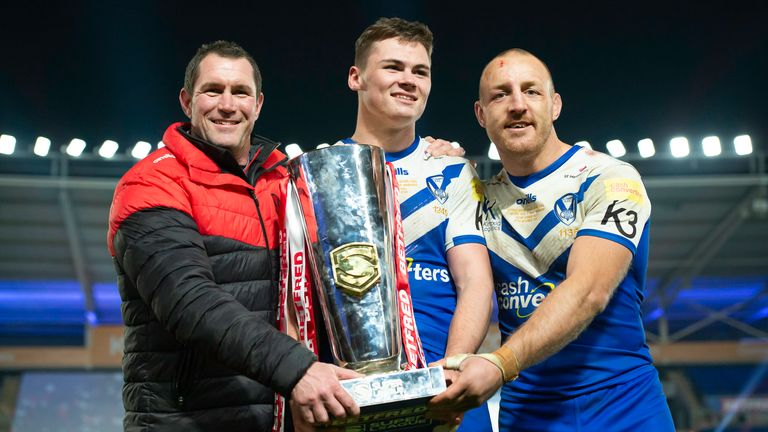 Kristian Woolf (left) wants to add a Challenge Cup to Super League success