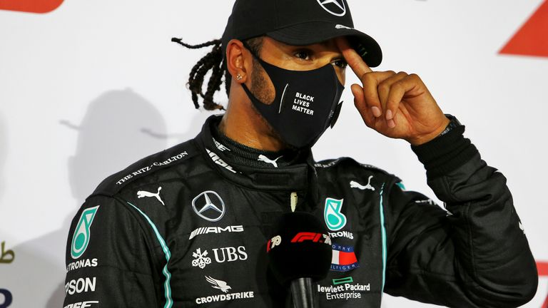 Lewis Hamilton is self-isolating and will miss this weekend's Sakhir Grand Prix in Bahrain