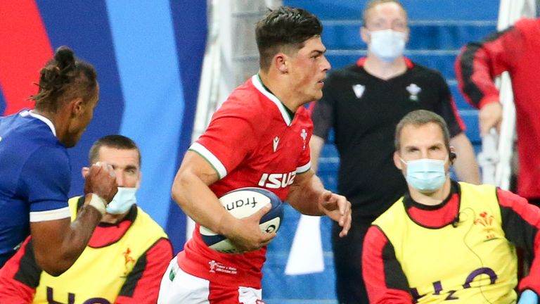 Louis Rees-Zammit featured off the bench last month, but will mark his full Wales Test debut on Saturday