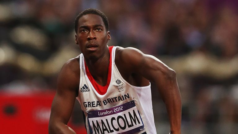 Malcolm looks on after competing in the men's 200m semi-finals on Day 12 of the London 2012 Olympic Games