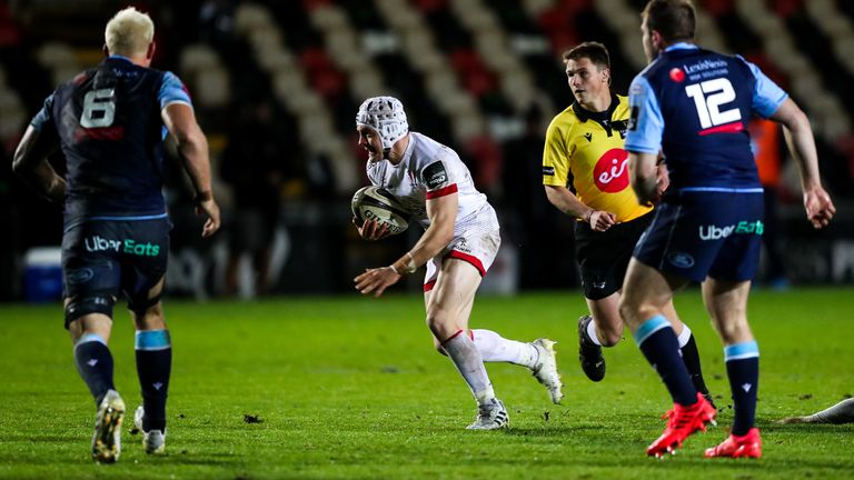 Ulster's Michael Lowry scores a try