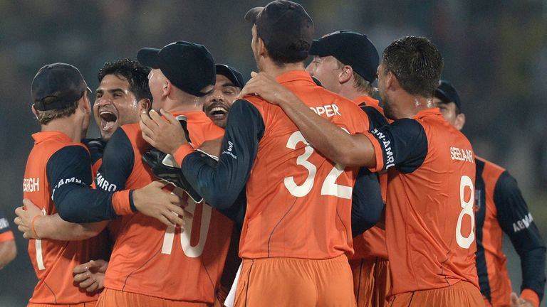 Netherlands beat England in the 2014 World T20