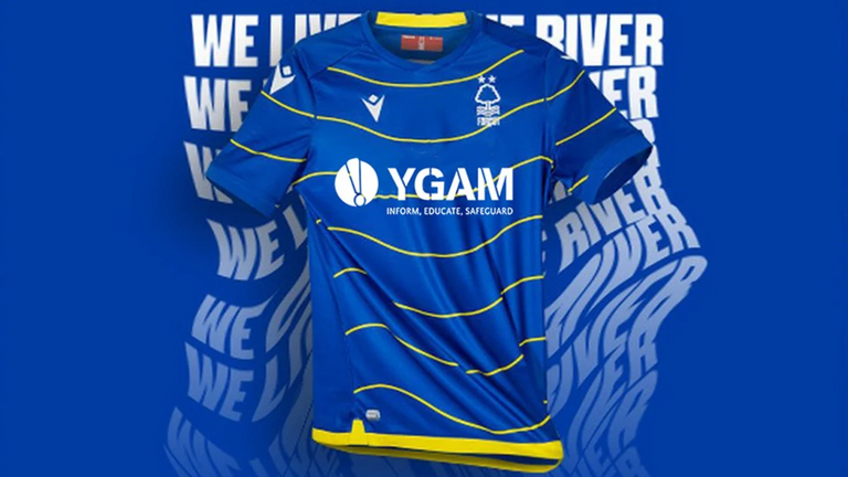 Nottingham Forest will carry the logo of the YGAM on their shirts when they play Bournemouth on November 24