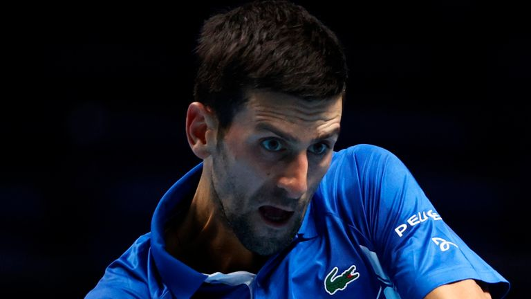 The world No 1 looked right at home on court inside the O2 Arena in London