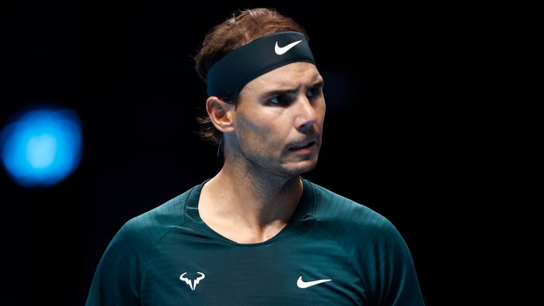 Rafael Nadal beat Stefanos Tsitsipas to reach the semi-finals of the ATP Finals in London