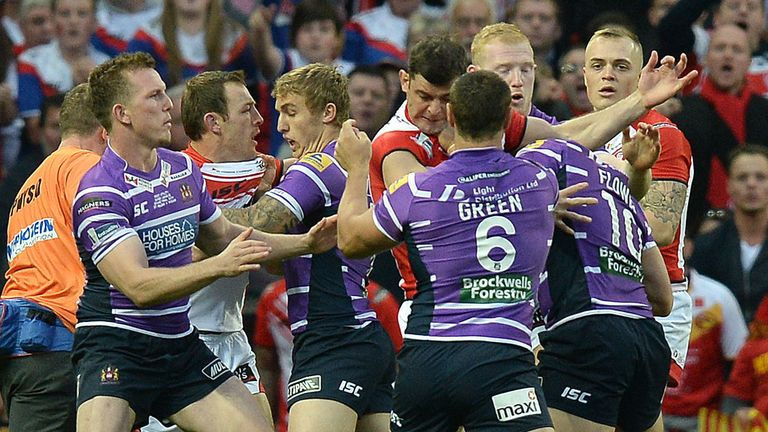 Wigan and St Helens matches can be fiery encounters