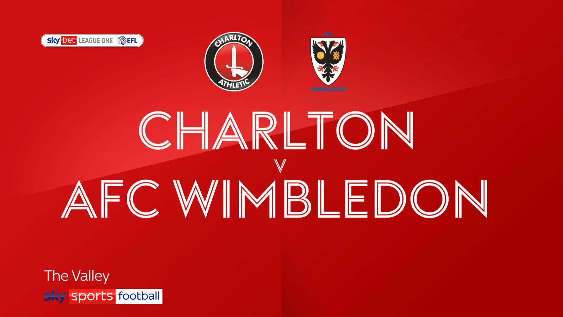 Five-star Charlton sink AFC Wimbledon
