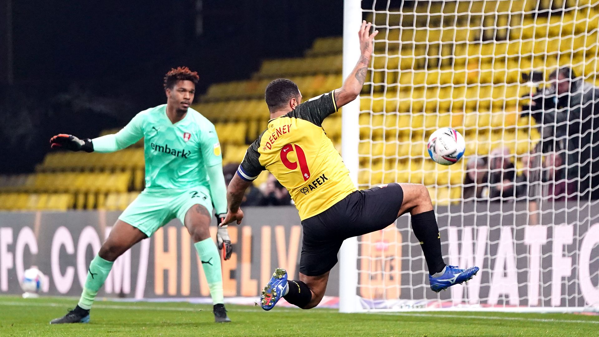 Deeney strikes as Watford ease to victory