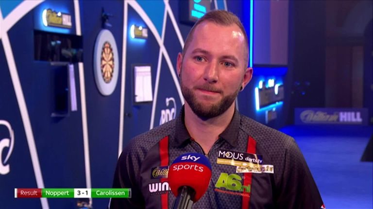 Despite winning 3-1, Danny Noppert was disappointed with his performance after beating Cameron Carolissen in the World Darts Championship.