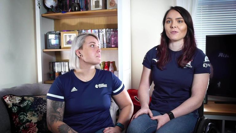 Paralympians Jude Hamer and Lauren Rowles describe how lockdown helped them find more than a training partner in each other