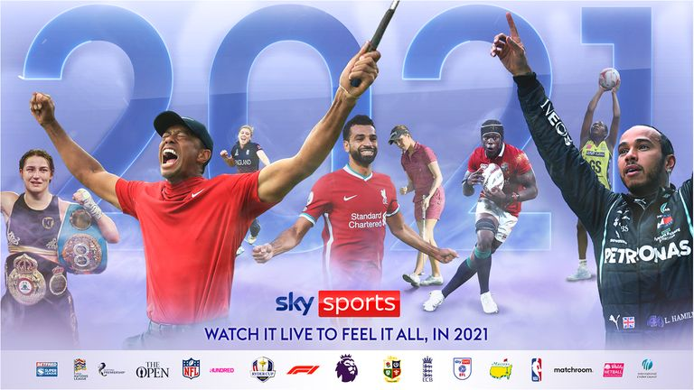 Premier League, Super League, Ryder Cup, The Lions, The Hundred and Formula 1 are all among the events live on Sky Sports in 2021