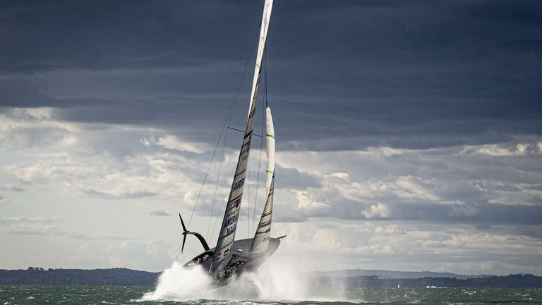 The AC75s are breathtaking out on the water and reach exceptional speeds (Credit - Will Ricketson)