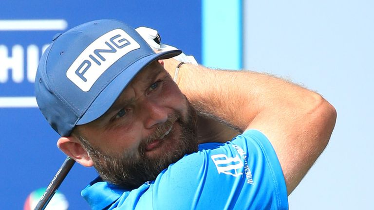 Andy Sullivan mixed four birdies with two bogeys during the final round in Dubai