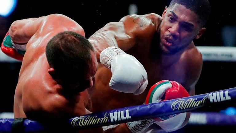 Joshua inflicted a ninth-round knockout on Kubrat Pulev