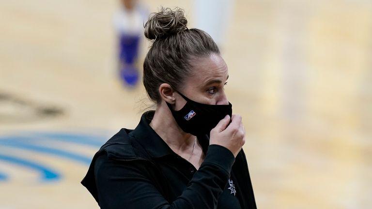 San Antonio Spurs assistant coach Becky Hammon - AP