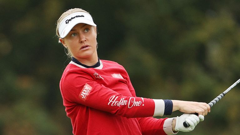 Charley Hull is just one behind heading into the final round