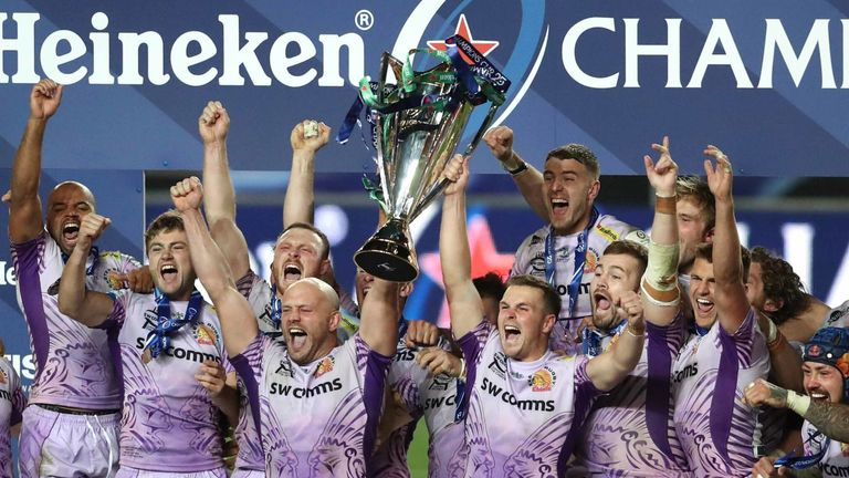 Defending European Cup winners Exeter host Lyon in the round of 16 on Saturday