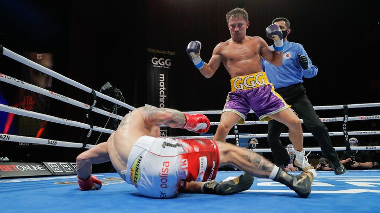 Golovkin broke the record for successful middleweight title defences