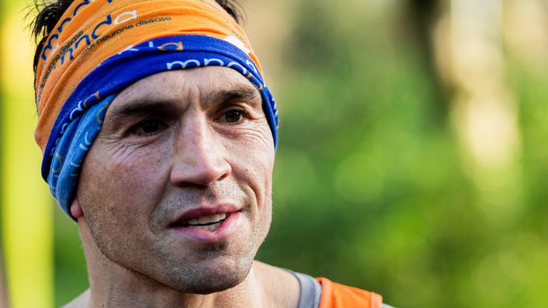 Kevin Sinfield is running seven marathons in seven days in support of Rob Burrow and the MND Assocation