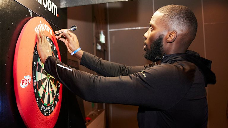 Lawrence Okolie aiming for the bullseye