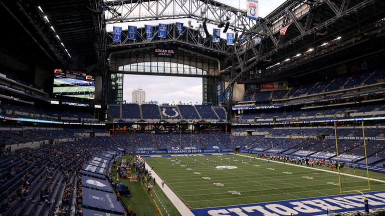The Indianapolis Colts will play in front of up to 10,000 fans against the Houston Texans
