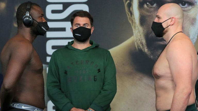 Martin Bakole battles Sergey Kuzmin for the WBC international belt