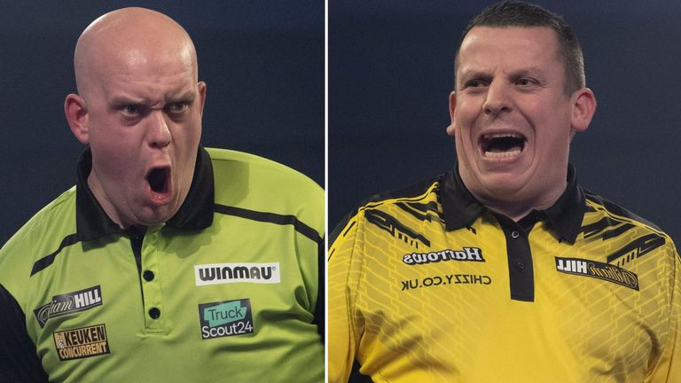Michael van Gerwen holds an incredible winning record over Dave Chisnall