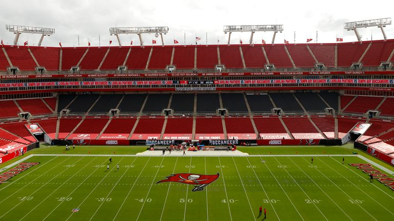 Raymond James Stadium is currently scheduled to host the Super Bowl in February 2021