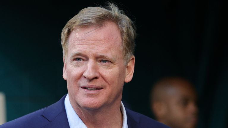 Roger Goodell says the NFL are not planning to have anyone vaccinated before the Super Bowl