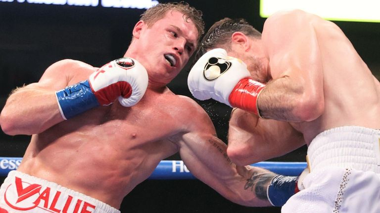 Canelo quickly closed the distance in the early rounds