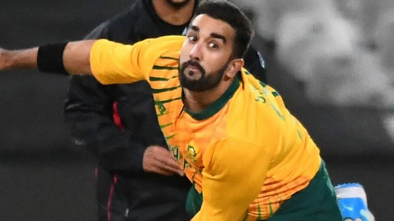 Tabraiz Shamsi is South Africa's chief spin threat