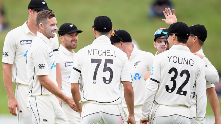 Tim Southee took four first-innings wickets as New Zealand pushed for victory at Seddon Park