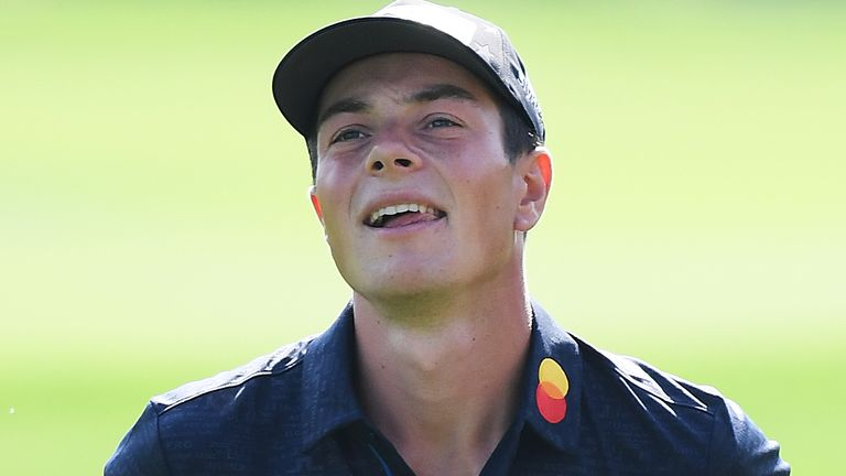 Viktor Hovland called a penalty on himself after his round