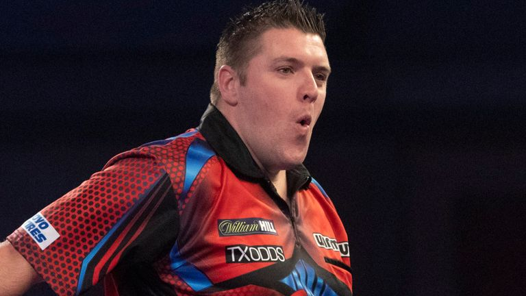 Daryl Gurney survived a scare to reach the third round at Ally Pally