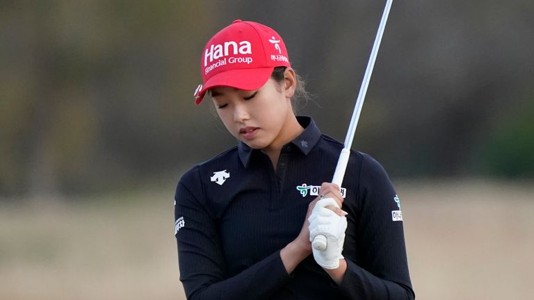 Yealimi Noh was two clear before she double-bogeyed the last