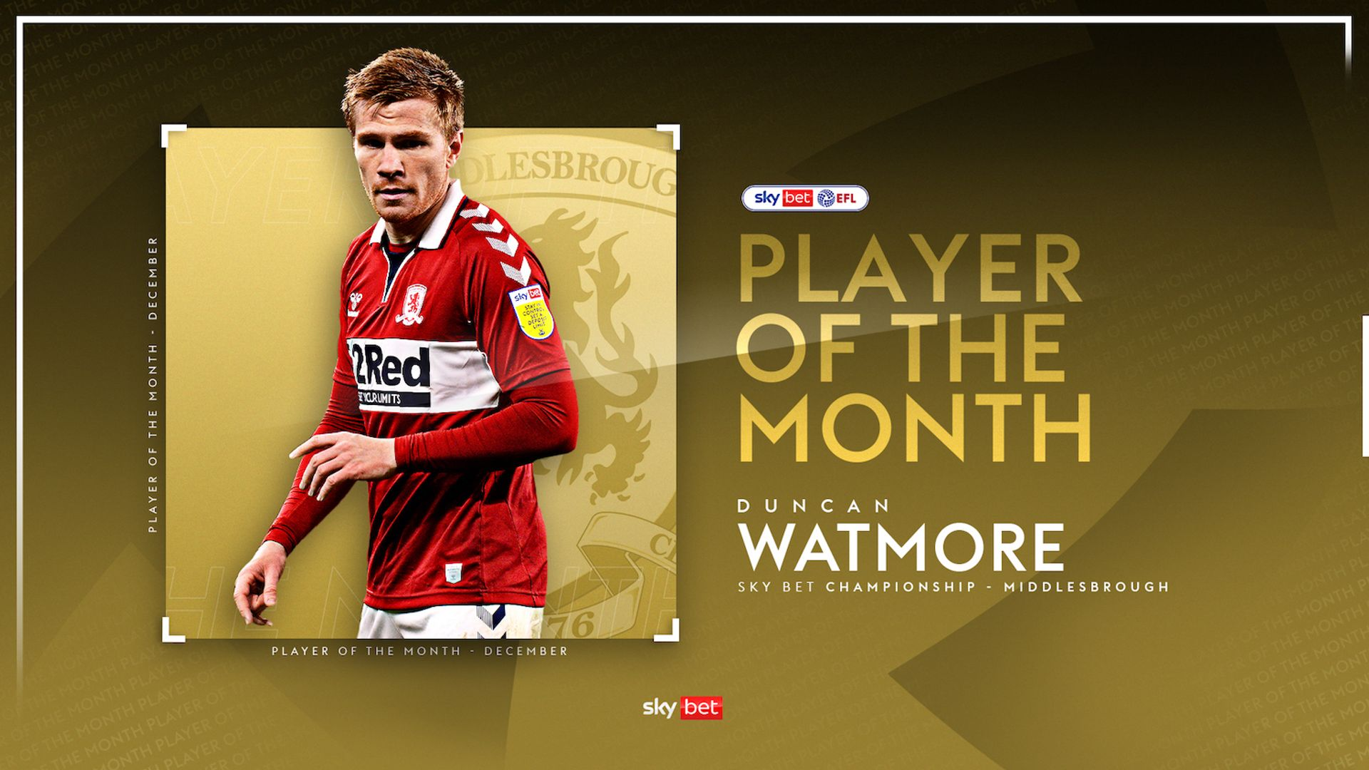 Watmore, Frank win December Championship awards