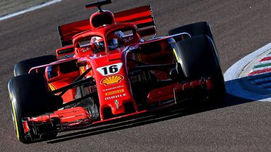 Leclerc tests the 2018 Ferrari at Fiorano earlier this year