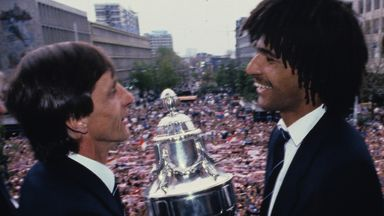 Johan Cruyff and Ruud Gullit celebrated a remarkable league and cup double with Feyenoord in 1984