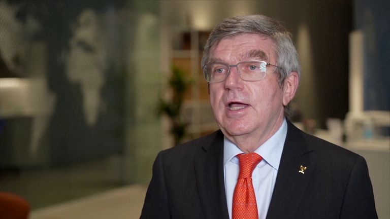International Olympic Committee President Thomas Bach says the entire Olympic movement is united in its determination to ensure the Tokyo Games happen in July and August.