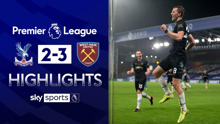 FREE TO WATCH: Highlights from West Ham's win against Crystal Palace in the Premier League