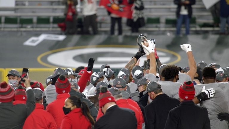 Take a look at how the Tampa Bay Buccaneers made it to Super Bowl LV, where they will face the Kansas City Chiefs.